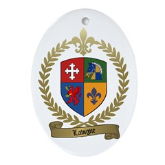 LAVIGNE Family Crest Ornament (Oval)