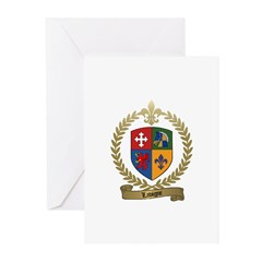 LAVIGNE Family Crest Greeting Cards (Pk of 10)