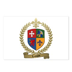 LAVIGNE Family Crest Postcards (Package of 8)
