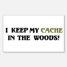 Cache in Woods Rectangle Decal
