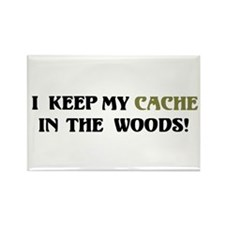 Cache in Woods Rectangle Magnet