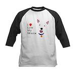 Westie Love Kids Baseball Jersey