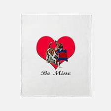 Jack Russell Terrier Valentin Throw Blanket
