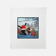 Lil Santa Donkey Throw Blanket