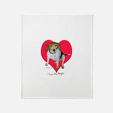 Daisy the Beagle Throw Blanket