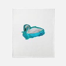 Trumpeter Swan Throw Blanket