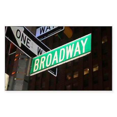 Broadway Sticker (Rectangle)