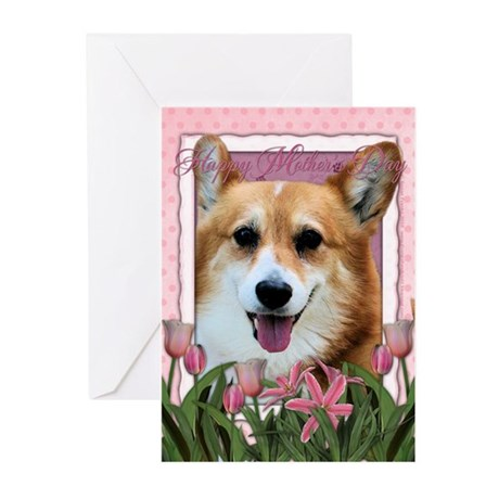 Mothers Day - Pink Tulips Greeting Cards (Pk of 10
