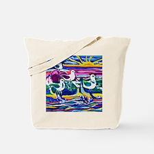 Unique Blue seagulls Tote Bag