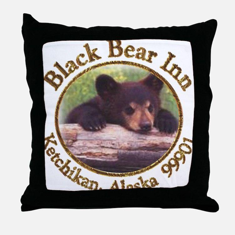 Black Bear Inn Throw Pillow