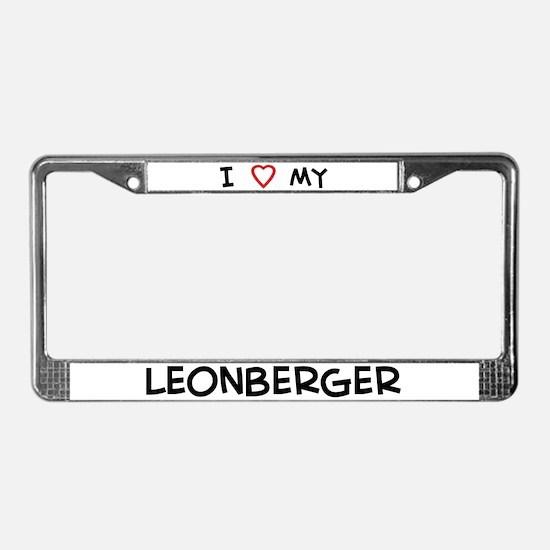 I love Leonberger License Plate Frame
