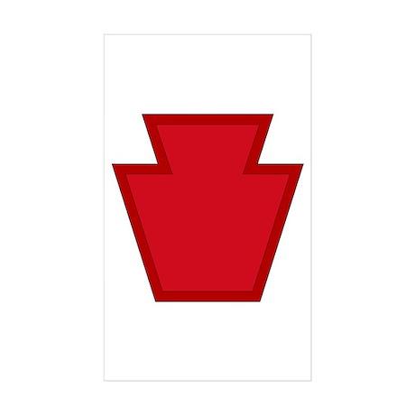 Keystone Sticker (Rectangle 10 pk)