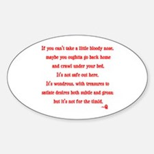 Star Trek Q timid quote Sticker (Oval)