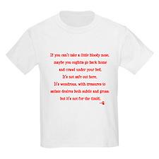 Star Trek Q timid quote T-Shirt