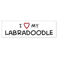I Love Labradoodle Bumper Bumper Sticker