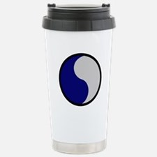 Blue and Gray Stainless Steel Travel Mug