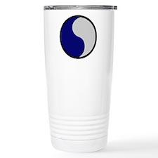 Blue and Gray Travel Mug