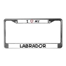 I Love Labrador License Plate Frame