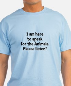 Dudley Speaks For The Animals T-Shirt