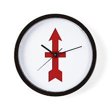 Red Arrow Wall Clock