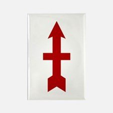 Red Arrow Rectangle Magnet