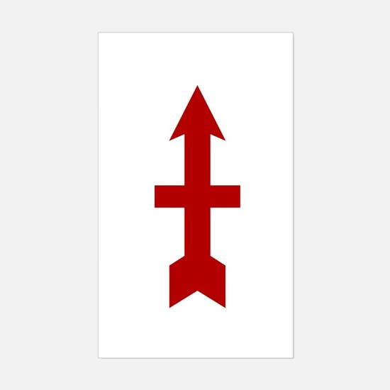 Red Arrow Sticker (Rectangle)
