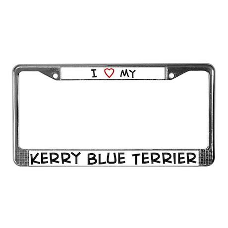 I Love Kerry Blue Terrier License Plate Frame