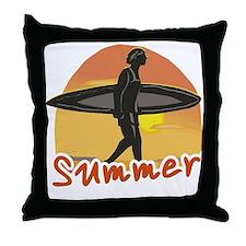 Summer Surfer Throw Pillow