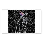Party Penguin Rectangle Sticker