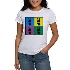 Color Peace Sign Gear Women's T-Shirt