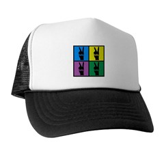 Color Peace Sign Gear Trucker Hat