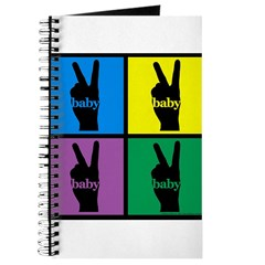 Color Peace Sign Gear Journal