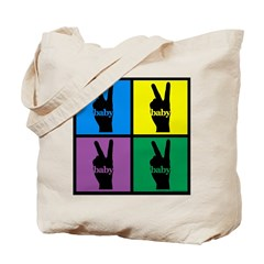 Color Peace Sign Gear Tote Bag