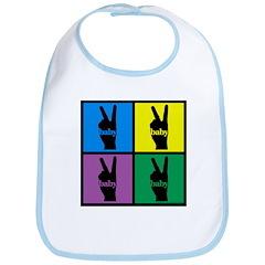 Color Peace Sign Gear Bib