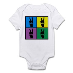 Color Peace Sign Gear Infant Creeper