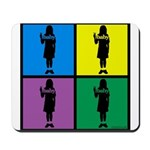 Color Peace Baby Girl Gear Mousepad