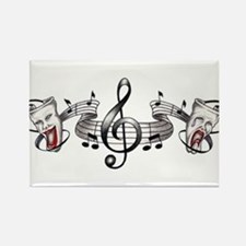 Theater and Music Rectangle Magnet