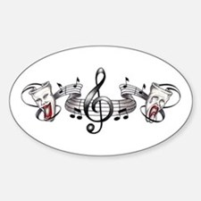 Theater and Music Oval Decal