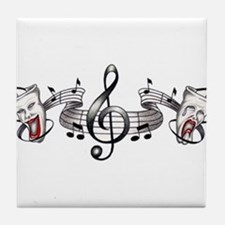 Theater and Music Tile Coaster