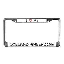 I Love Iceland Sheepdog License Plate Frame