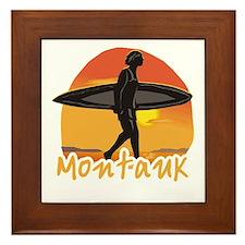 Montauk Surf Framed Tile