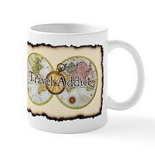 """Travel Addict"" Small Mug"