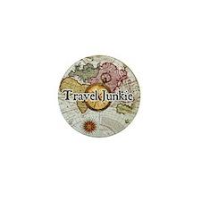 """Travel Junkie"" Mini Button"