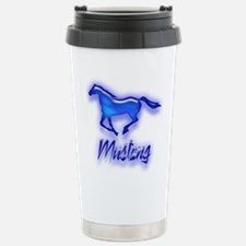 Unique Blue mustang Travel Mug