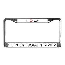 I Love Glen of Imaal Terrier License Plate Frame