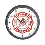 Masonic Fire & Rescue Wall Clock