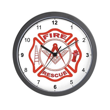 Masonic Fire & Rescue Wall Clock