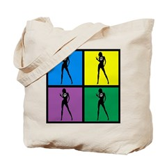 Color Peace Woman Gear Tote Bag