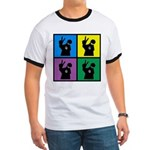 Color Peace Man Gear Ringer T
