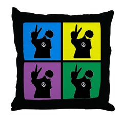 Color Peace Man Gear Throw Pillow